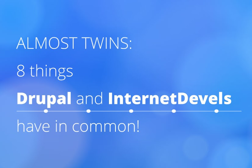 8 things Drupal and InternetDevels have in common!