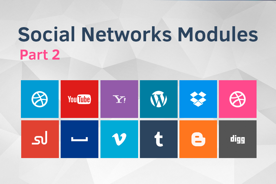 Drupal modules for social networks integration
