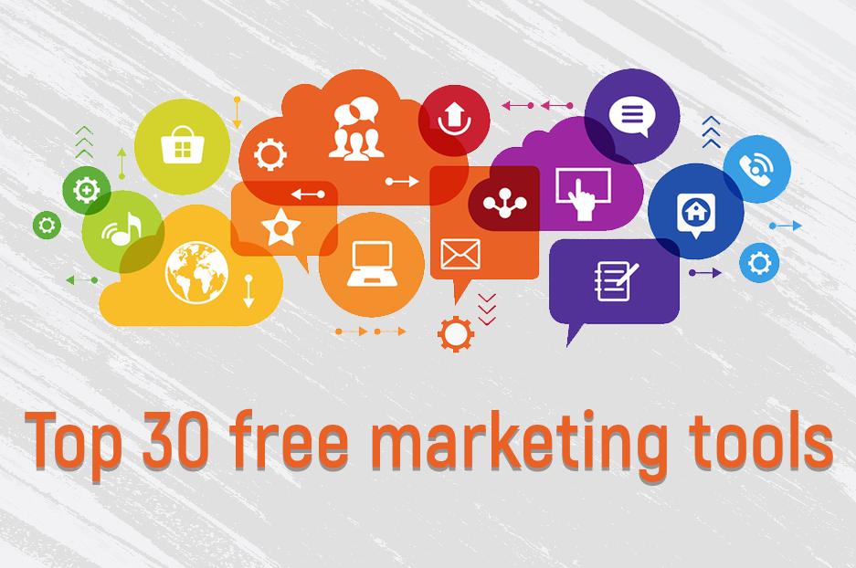 Top 30 free marketing tools