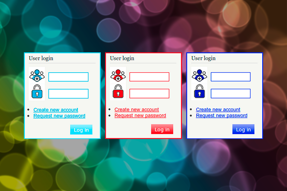 The module for changing login/registration form view