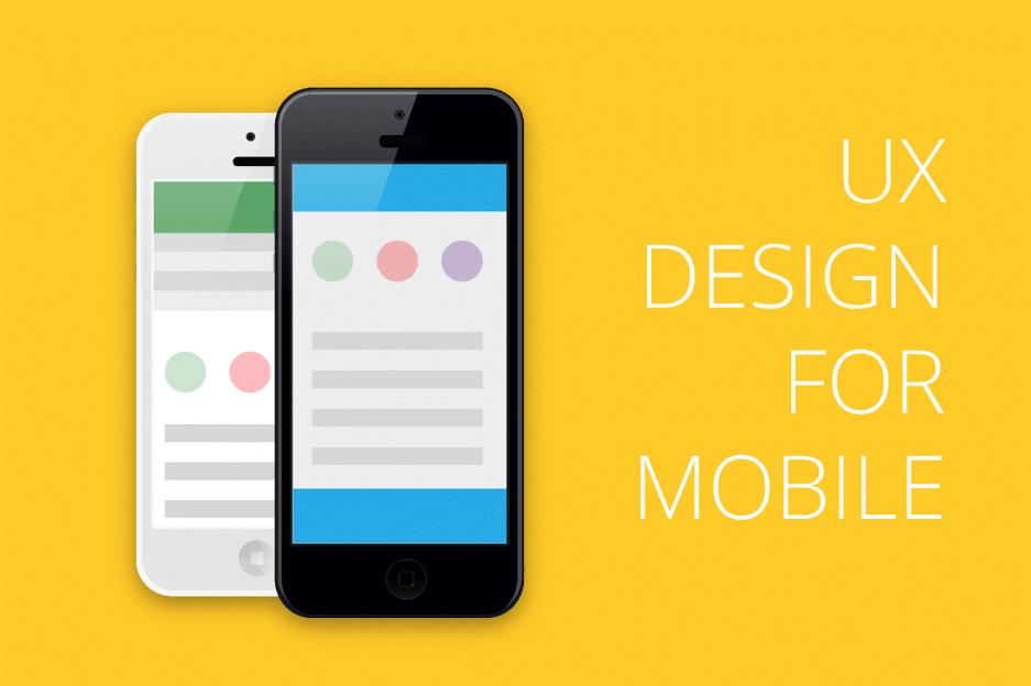 UX дизайн для мобильных устройств - инфографика
